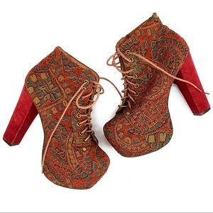 Jeffrey Campbell• Lita Platform Heels Tapestry Red